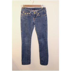 True Religion Slim Straight Leg Jeans Size 25